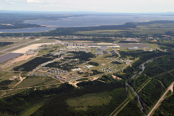 Aerial View of Goose Bay Airport in Goose Bay, Labrador